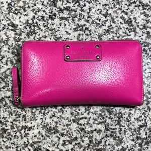 Hot pink leather Kate Spade Wallet